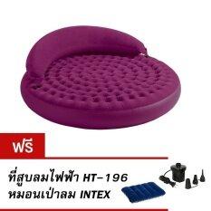Intex 68881 ที่นอนเป่าลมอเนกประสงค์ Ultra daybed แถมที่สูบลมไฟฟ้า HT-196 หมอนเป่าลม Intex