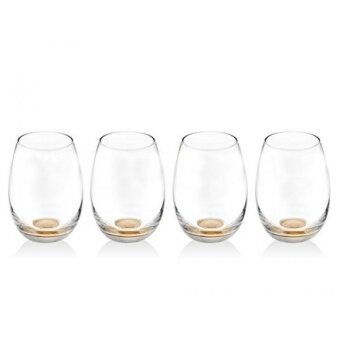 James Scott Maestro Set of 4 13oz Stemless Glasses - intl