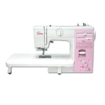 JANOME จักรเย็บผ้าชนิดกระเป๋าหิ้ว รุ่น OMJ423S2 - White - Pink