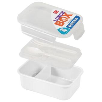 JCJ Food Keeper กล่องข้าวใหญ่+ช้อนส้อม (สีใส)