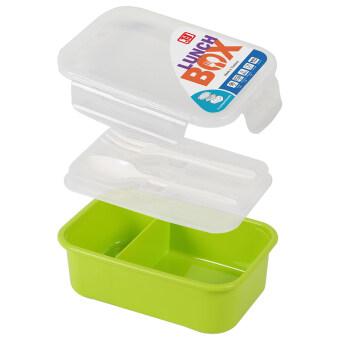 JCJ Food Keeper กล่องข้าวใหญ่+ช้อนส้อม (สีเขียว)