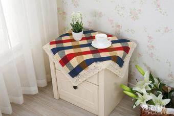 ปกผ้าม่านที่เรียบง่ายผ้าปูโต๊ะผ้าฝ้ายลายสก๊อตโต๊ะกาแฟ