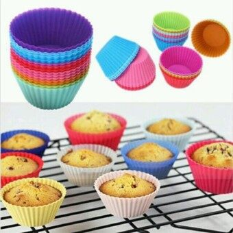 JinGle Silicone Moulds Muffin Baking Mould Set Cake Bake Cases Jelly Bakeware Oven - intl