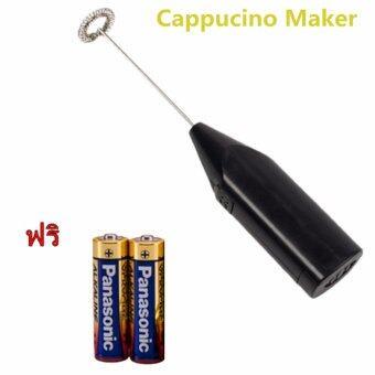 JJ เครื่องปั่นฟองนมไฟฟ้ากาแฟหมุนใช้ frother นม(สีดำ) ฟรี AA batteryแบตเตอรี่ 2pcs ราคา 50 บาท