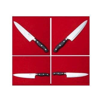 JP-08 1 เล่มมีดสไตร์ญี่ปุ่น มีดสำหรับเฃฟมืออาชีพ หั่นผัก หั่นเนื้อ ใบมีดสแตนเลส น้ำหนักเหมาะมือ มีดเล่มใหญ่ ด้ามมีดสีดำ พร้อมส่ง