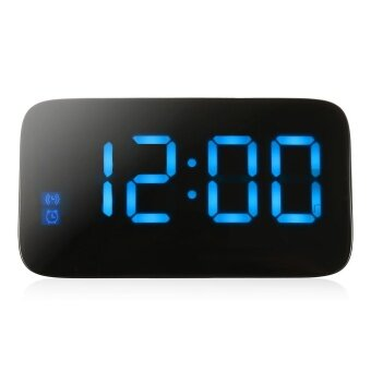 JUNJIADA LED Digital Alarm Clock Voice Control Time Display for Home Office (Blue) - intl