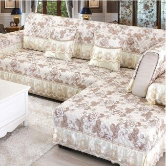 K2 60*70CM Four Seasons Linen Sofa Cushion Beige - intl
