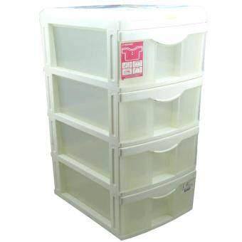 เปรียบเทียบราคา Keyway กล่องลิ้นชัก 4 ชั้น 2 ช่องด้านบน ขนาด 27 x 36.5 x 53.5 cmNo. CA-404