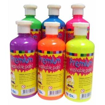 สนใจซื้อ Kid Art สีPremium Washable แบบนีออน ไร้สารพิษ 250 กรัม / กระปุก