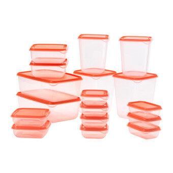 อยากขาย Kidsmile ชุดกล่องบรรจุอาหาร 17 ชิ้น (สีส้ม)