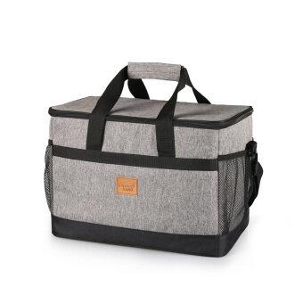 รีวิวพันทิป KINNET กระเป๋าเก็บอุณหภูมิ กระเป๋าเก็บความร้อน-เย็น กระเป๋าใส่อาหารอเนกประสงค์ จัดระเบียบ Large Capacity Waterproof Insulated ThermosThermal Cooler Tote Lunch Bag Picnic Bag Hot Bag Cooler Bag33L(Heather Grey)