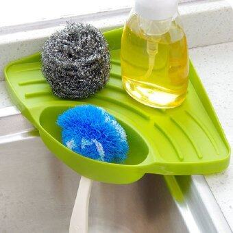 Kitchen Hanging Drain Basket Bath Storage Gadget Tools Sink HolderPortable Blue - intl