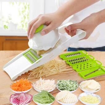 KitchenMarks ชุดสไลด์ผักผลไม้ ชุดมีดหั่นผักอเนกประสงค์ ชุดอุปกรณ์ปอกผักผลไม้ เครื่องหั่นผักผลไม้ที่หั่นผักผลไม้ ที่ขูดผักผลไม้ New Step Asia ชุดสไลด์ผักผลไม้ nicer dicer slicers
