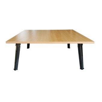 โปรโมชั่นพิเศษ KK Shop โต๊ะญี่ปุ่น สี่เหลี่ยม 75x75ซม.กันน้ำได้ ไม้เมลามีน - บีท