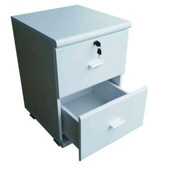 KMP Furniture ตู้ล๊อกเกอร์ ตู้เก็บของ ชั้นไม้เอนกประสงค์ รุ่น Locker cabinet Box 2 ชั้น (สีขาว)