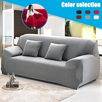 L Shape Stretch Elastic Fabric Sofa Cover Pet Dog Sectional Corner Couch USA - intl