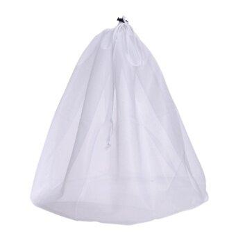 Laundry Bag Clothes Washing Laundry Bra Mesh Bag(White)-L