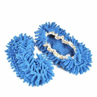 Lazy Drag Shoe Mop Floor Cleaning Dust Cleaner Slippers Shoe CoverMop Bathroom - intl