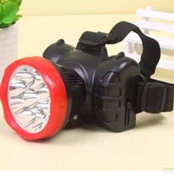 ไฟฉายติดศรีษะ หลอด LED 7 ดวง แสงพุ่งไกล 1000 เมตรแบตเตอรี่และเครื่องชาร์จในตัวใช้งาน 18 ชั่วโมง