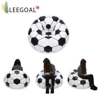 ขายด่วน leegoal Inflatable Football Sofa Cool Design Bean Bag High QualityEco-friendly Pvc For Adults And KidsBlack+white Large - intl