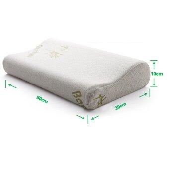 Leena Bamboo Memory Foam หมอนหนุน หมอนสุขภาพ หลับสบายเต็มตื่นผ้าปูที่นอน ชุดเครื่องนอน หมอน หมอนอิง ชุดผ้าปูที่นอนหมอนผ้าห่มLeena 0149ขาว - 2