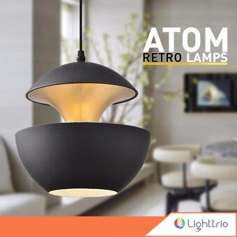 Lighttrio โคมไฟแขวนเพดาน รุ่น HL-ATOM/BK