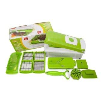 Like One Step precision cutting อุปกรณ์เครื่องครัวชุดหั่นผักและผลไม้ เอนกประสงค์ (สีเขียว)