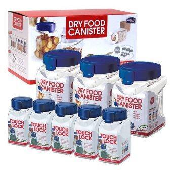 LOCK & LOCK Dry Food Canister 380ml 5P 1L 3P Set Total 8EA(Blue)