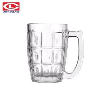 Luckyglass LG311514 แก้วชา กาแฟ แบบมีหู ทรงสับปะรด 14 ออนซ์ Tropical mug แพ็ค 6