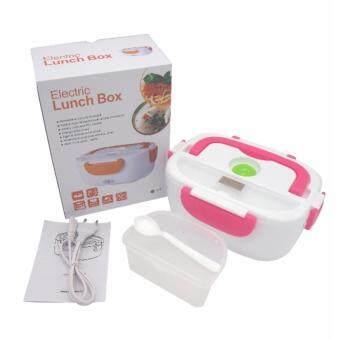 อยากขาย Lunch Box กล่องอุ่นอาหาร กล่องใส่อาหาร อุ่นอาหารไฟฟ้า กล่องอุ่นข้าวปิคนิค พกพาสะดวก [สีชมพู]