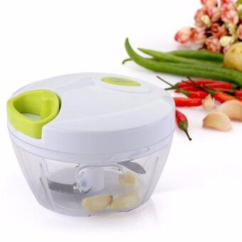 LUOWAN Kitchen Mini Chopper Food Pull Processor - for Vegetable,Fruit, Garlic, Herb, Onion, Pull Slicer Cutter Blender Tool (2Blades) – intl