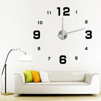 แนะนำ Luxury Modern Digital Large Hours 3D Wall Clock Time Home OfficeArt Decoration