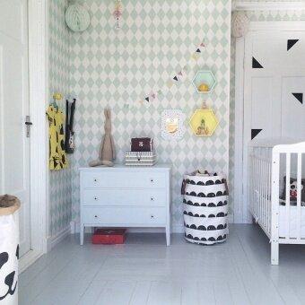May_zz Baby Kids Toy Clothes Storage Bag Canvas Laundry Basket RoomDecorpattern Handbag -Half Moon - intl