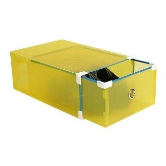 Men Drawer Shoe Home Storage Box Metal-edged Organizer Transparent 1 Pcs - intl