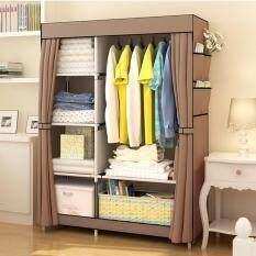 MGN ตู้เสื้อผ้า 2 ช่องเปิดข้าง  - สีน้ำตาลอ่อน
