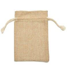 Mini Tie Bag Burlap Wedding Party Favor 9*12cm 5Pcs - intl