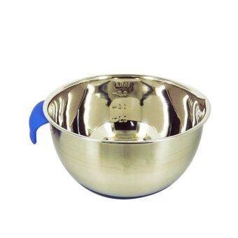 รีวิวพันทิป Mixing Bowl โถสแตนเลสสำหรับผสมแป้ง มีสเกลวัด ขนาด 24 cm