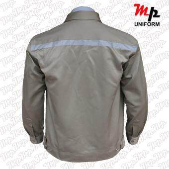 MP J003-04 เสื้อช่างผ้าเวสปอยท์ เป็กสาบปิดซ่อน แถบสะท้อนแสงหลังsize M - 4