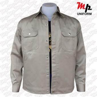MP J003-04 เสื้อช่างผ้าเวสปอยท์ เป็กสาบปิดซ่อน แถบสะท้อนแสงหลังsize M - 2