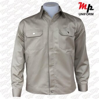 MP J003-04 เสื้อช่างผ้าเวสปอยท์ เป็กสาบปิดซ่อน แถบสะท้อนแสงหลังsize M - 3