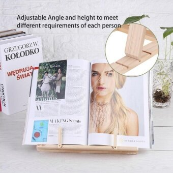 Multi-functional Wooden Book Reading Rack Kitchen Cookbook StandHolder - intl