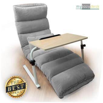 Mylazydesk เก้าอี้ญี่ปุ่น โต๊ะญี่ปุ่น (รุ่นH01-175cm.สีเทา+J01สีไม้อ่อน) โซฟาญี่ปุ่น