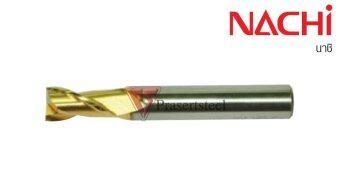 NACHI ดอกเอ็นมิลล์ HSS-Co เคลือบ TiN สีทอง 2 เขี้ยว ขนาด 33*145 มม.