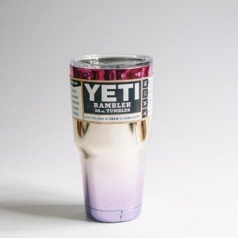 YETI Rambler แก้วเก็บความเย็น ขนาด30ออนซ์ (สีชมพูทองม่วง)