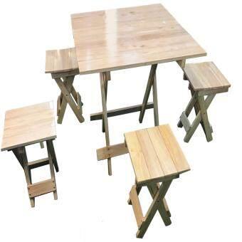 ndl 4 1487050625 30384811 e6e550da8c592e8bf43b60c197fcf889 product ซื้อได้ที่ไหน NDL ชุดโต๊ะสนามไม้ยางพาราพร้อมเก้าอี้พับได้ 4ที่นั่ง  สีธรรมชาติ