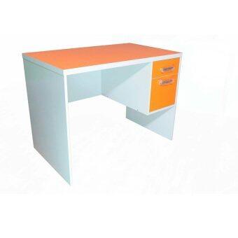 ต้องการขายด่วน NDL โต๊ะทำงานหน้าท๊อป PVC ขนาด 100cm (สีส้ม/ขาว) รุ่นTZ-117