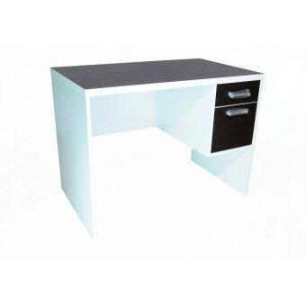 สนใจซื้อ NDL โต๊ะทำงานหน้าท๊อป PVC ขนาด 120cm (สีโอ๊ค/ขาว) รุ่นTZ-118