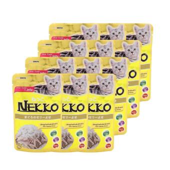 NEKKO อาหารเปียกแมว รสปลาทูน่า หน้าปลาข้าวสาร 70g ( 12 units )