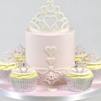 New 2pcs/set Crown plastic fondant cutter cake mold fondant mold fondant cake decorating tools sugarcraft bakeware - intl
