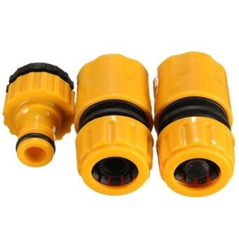 New 3pcs 3/4 Hose Pipe Fitting Set Quick Garden Water ConnectorAdaptor - intl